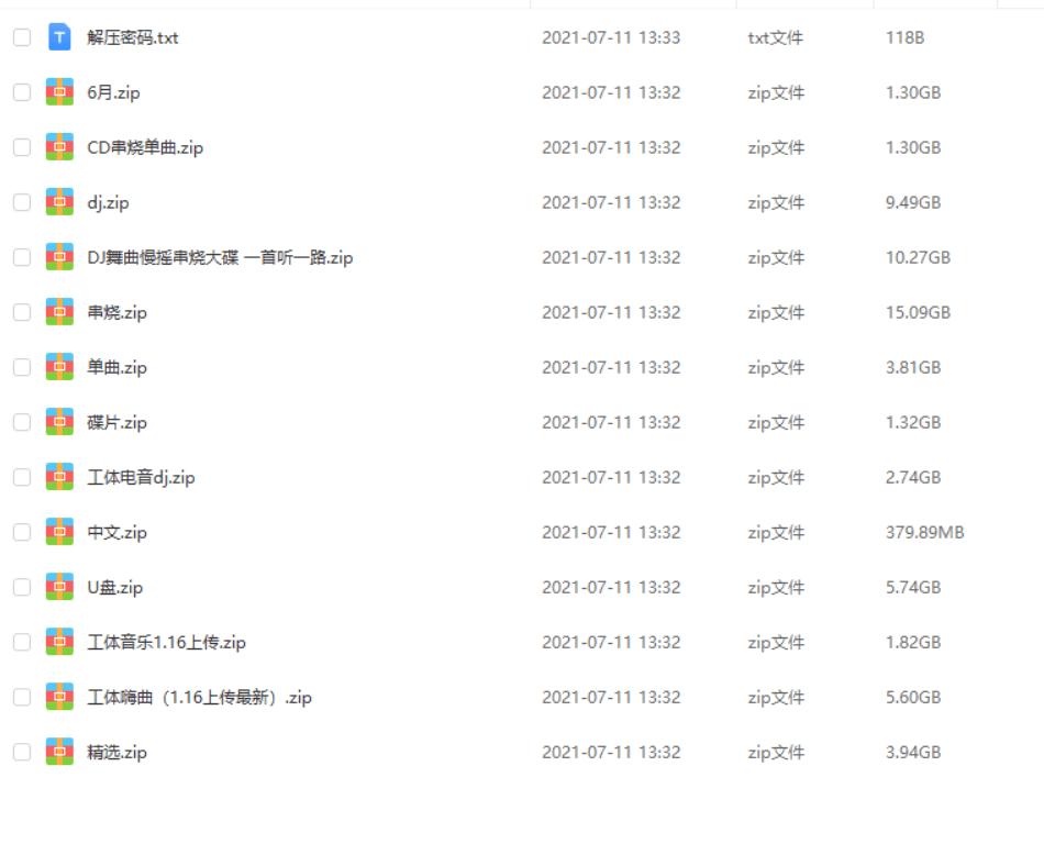 汽车音乐-北京工体夜店歌曲、dj劲爆歌曲